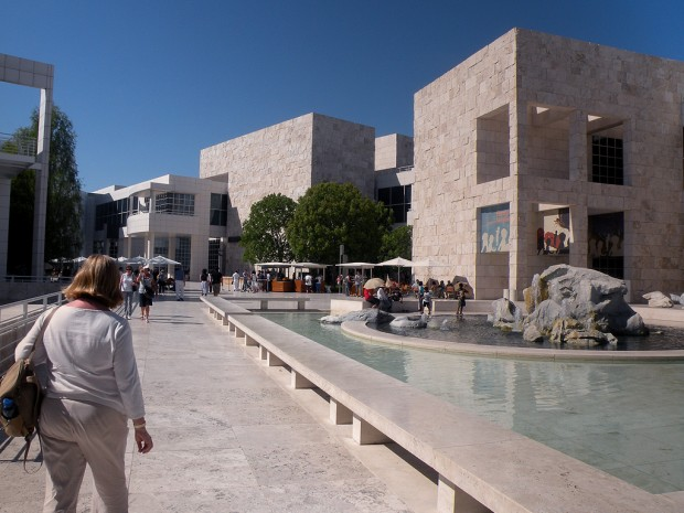 Inner Courtyard of Getty Museum
